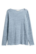 H&M+ Linen top - Light blue marl - Ladies | H&M 2