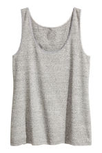 H&M+ Lace-trimmed vest top - Grey marl - Ladies | H&M 2