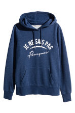 H&M+ Printed hooded top - Dark blue marl - Ladies | H&M 2