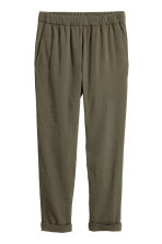 Pull-on trousers - Khaki green - Ladies | H&M 2