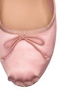 Lace-up ballet pumps - Light pink - Ladies | H&M 3