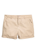 H&M+ Chino shorts - Light beige - Ladies | H&M 2