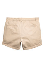 H&M+ Chino shorts - Light beige - Ladies | H&M 3