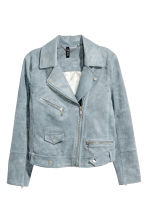 Imitation suede biker jacket - Grey-blue - Ladies | H&M 2