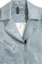 Imitation suede biker jacket - Grey-blue - Ladies | H&M 4