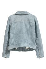 Imitation suede biker jacket - Grey-blue - Ladies | H&M 3