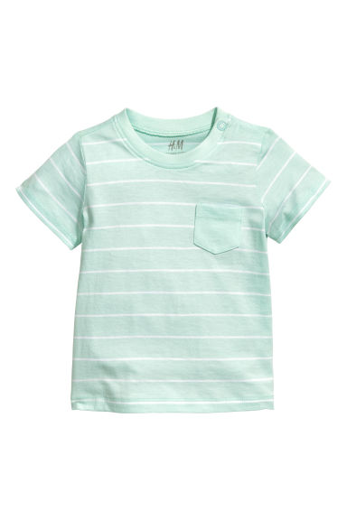 T-shirt - Mint green/Striped -  | H&M CN 1