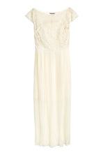 H&M+ Long dress - Natural white - Ladies | H&M CN 2