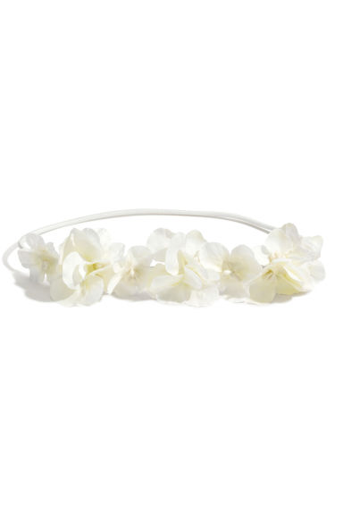 Hairband with flowers - White - Kids | H&M CN 1
