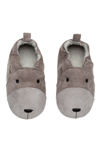 Terry-lined slippers - Dark grey - Kids | H&M CN