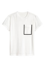 Mesh T-shirt - White - Men | H&M 2