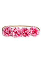 Hairband with flowers - Cerise - Kids | H&M CN 1