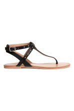 Toe-post sandals - Black - Kids | H&M 2