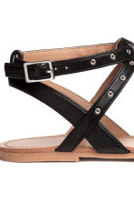 Toe-post sandals - Black - Kids | H&M 3