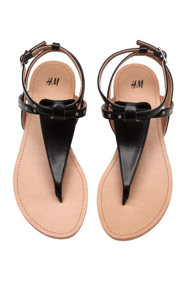 Toe-post sandals - Black - Kids | H&M 1