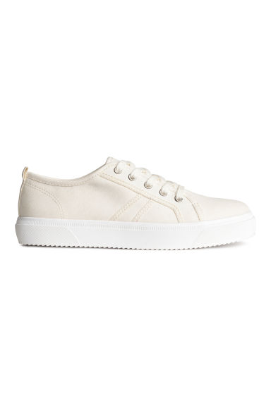 Canvas trainers - Natural white - Kids | H&M CN 1