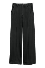 Herringbone suit trousers - Black - Ladies | H&M GB 2