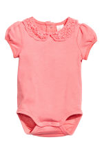 Bodysuit with lace collar - Pink - Kids | H&M 1