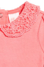 Bodysuit with lace collar - Pink - Kids | H&M 2