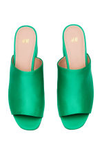 Mules - Green - Ladies | H&M 2