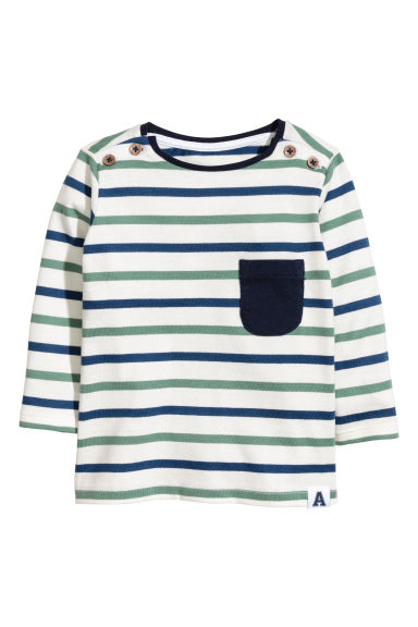 Long-sleeved T-shirt - White/Striped - Kids | H&M 1