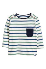 Long-sleeved T-shirt - White/Striped - Kids | H&M CN 1