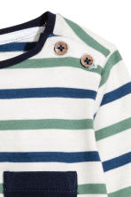 Long-sleeved T-shirt - White/Striped - Kids | H&M CN 2