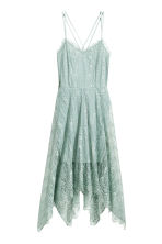 Knee-length lace dress - Dusky green - Ladies | H&M CN 2