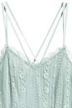 Knee-length lace dress - Dusky green - Ladies | H&M CN 3