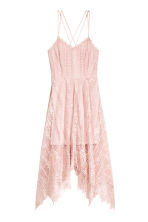 Knee-length lace dress - Powder pink - Ladies | H&M 2