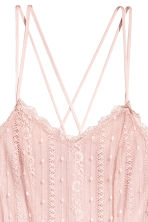 Knee-length lace dress - Powder pink - Ladies | H&M 3