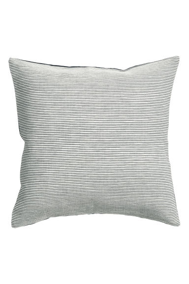 Jacquard-weave cushion cover - Anthracite grey/Striped - Home All | H&M CN 1
