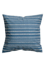 Cotton cushion cover - Blue/Striped - Home All | H&M CN 1