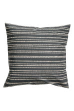 Cotton cushion cover - Anthracite grey/Striped - Home All | H&M CN 2