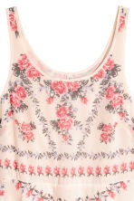 Crêpe dress - Natural white/Floral - Ladies | H&M CN 3