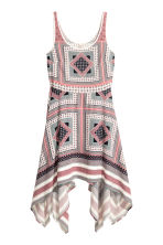 Crêpe dress - Pink/Patterned - Ladies | H&M CN 2