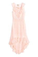 Frilled crêpe dress - Powder pink/Pattern - Ladies | H&M CA 2