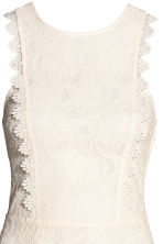 Short lace dress - Natural white - Ladies | H&M 4