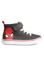 Hi-top trainers - Dark grey/Spiderman - Kids | H&M CN 1