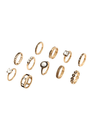 11-pack rings - Gold - Ladies | H&M 1