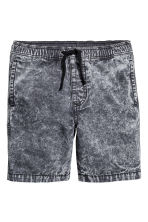 Short en denim - Noir washed out - ENFANT | H&M FR 2