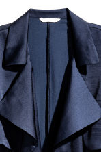 Satin trenchcoat - Dark blue - Ladies | H&M GB 3