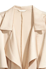 Satin trenchcoat - Light beige - Ladies | H&M CN 2