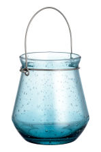 Glass candle lantern - Turquoise - Home All | H&M CN 2