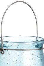 Glass candle lantern - Turquoise - Home All | H&M CN 3
