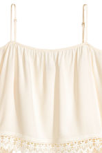 Off-the-shoulder blouse - Natural white - Ladies | H&M 3