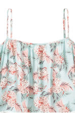 Off-the-shoulder blouse - Mint green/Floral -  | H&M 3