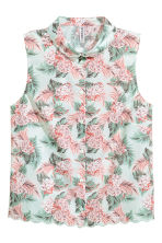 Sleeveless blouse - Mint green/Floral - Ladies | H&M 2