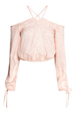 Cold shoulder blouse - Powder pink/Pattern - Ladies | H&M CN 2