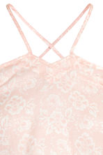 Cold shoulder blouse - Powder pink/Pattern - Ladies | H&M 3